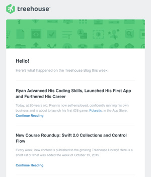 Treehouse Newsletter