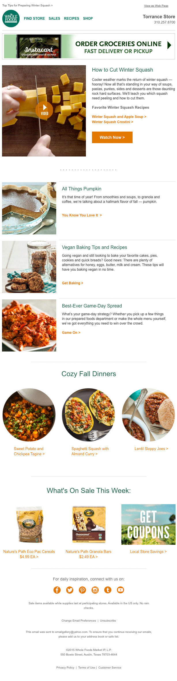 Whole foods newsletter email gallery post navigation forumfinder Gallery