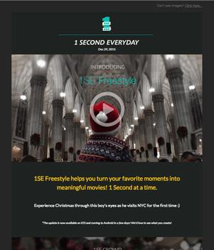 1Second Everyday Newsletter