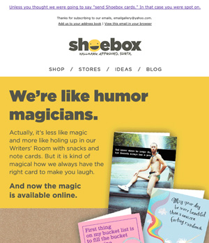 Showbox Newsletter
