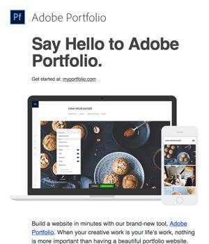 Adobe Portfolio Newsletter