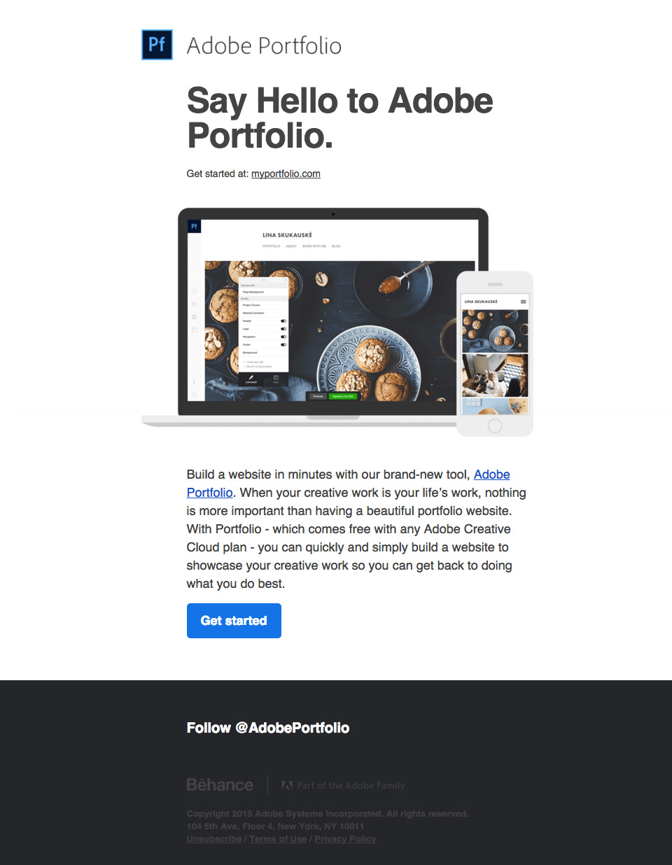 adobe-portfolio-newsletter