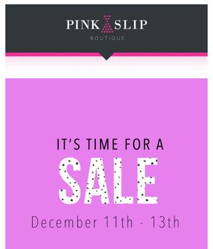 Pink Slip Boutique Newsletter