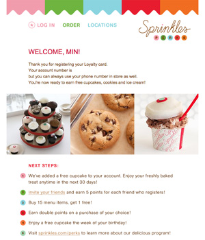 Sprinkles Cupcakes Newsletter