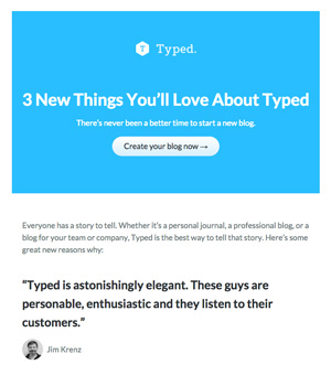 Typed Newsletter